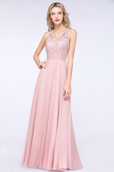 BM0795 Trendy Illusion Lace Sleeveless Bridesmaid Dress