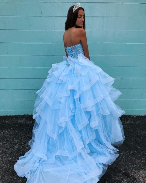 Awesome Sweetheart Tulle Ball Gown Quinceanera Dress_2