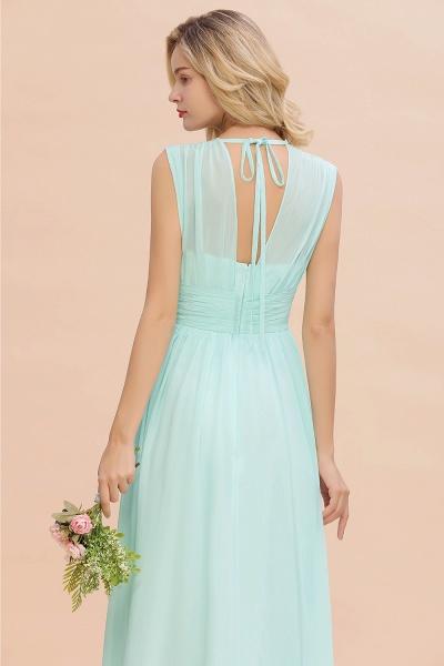 BM0774 Chiffon V-Neck Sleeveless Elegant A-line Ruffles Bridesmaid Dress_56