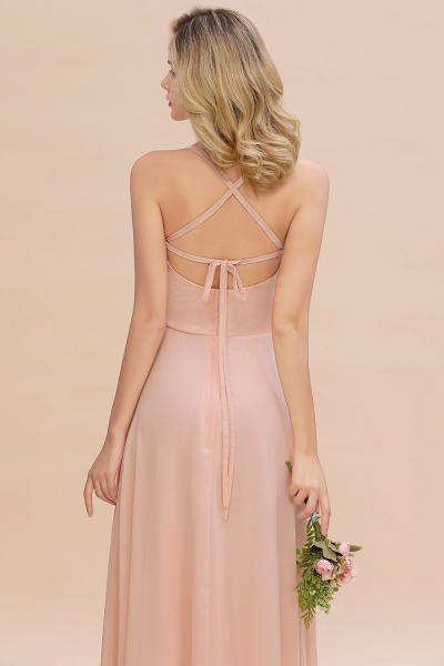 BM0782 Modern Chiffon Straps Sleeveless Open Back Long Bridesmaid Dress_10