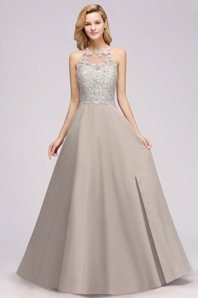 BM0794 Exquisite Lace Sleeveless Side Slit Bridesmaid Dress