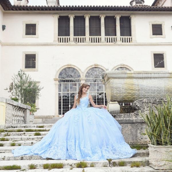 Exquisite Bateau Appliques Ball Gown Quinceanera Dress_3