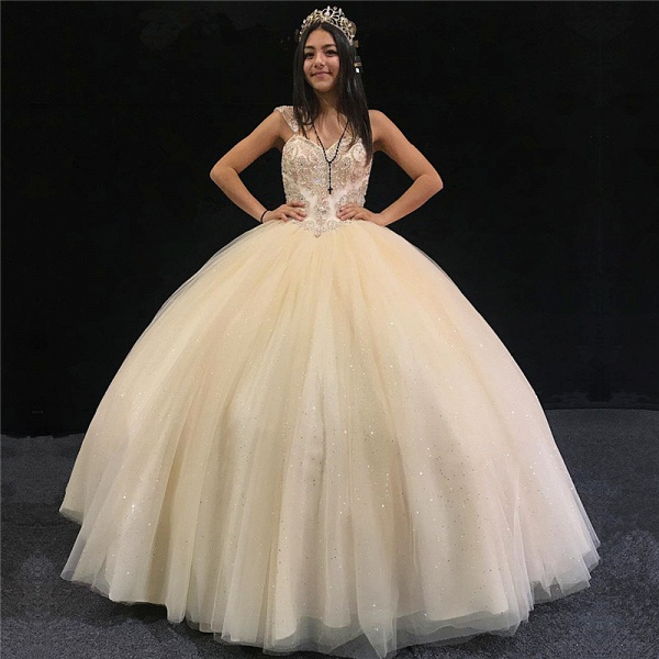 Precious Sweetheart Tulle Ball Gown Quinceanera Dress_1
