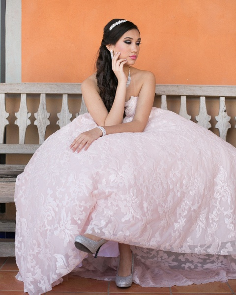Glorious Sweetheart Lace A-line Prom Dress_4