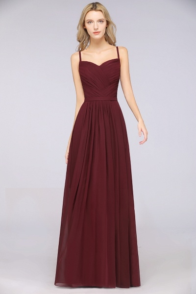 A-Line Chiffon Spaghetti-Straps Sweetheart Sleeveless Floor-Length Bridesmaid Dress with Ruffles_39