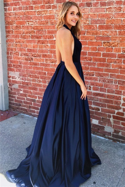 Amazing Halter Ruched A-line Prom Dress_2
