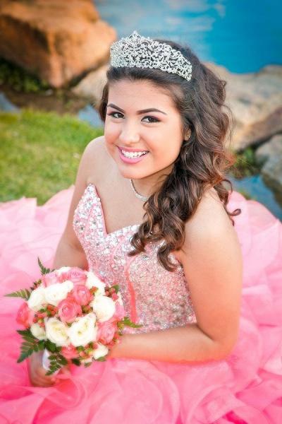 Exquisite Pink Sweetheart Ruffles Ball Gown Quinceanera Dress_3