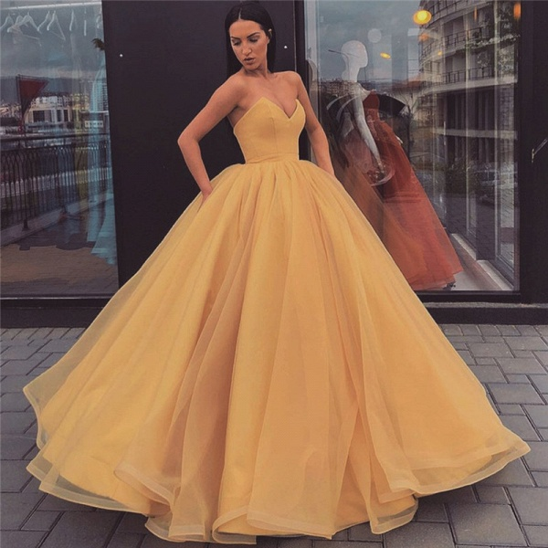 Best Sweetheart Tulle Ball Gown Prom Dress_1