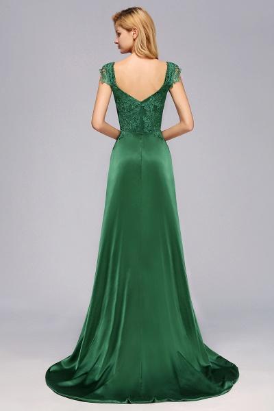 BM0796 A-line Lace Front-Slit Long Bridesmaid Dress_3