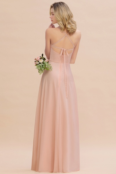 BM0782 Modern Chiffon Straps Sleeveless Open Back Long Bridesmaid Dress_3