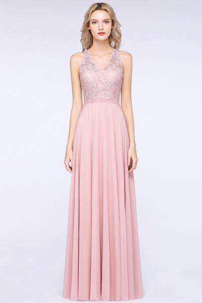 BM0795 Trendy Illusion Lace Sleeveless Bridesmaid Dress_2