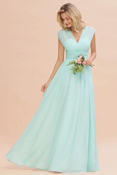 BM0774 Chiffon V-Neck Sleeveless Elegant A-line Ruffles Bridesmaid Dress_53