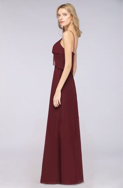 A-Line Chiffon Spaghetti-Straps V-Neck Sleeveless Floor-Length Bridesmaid Dress_38
