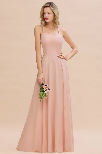 BM0782 Modern Chiffon Straps Sleeveless Open Back Long Bridesmaid Dress_1