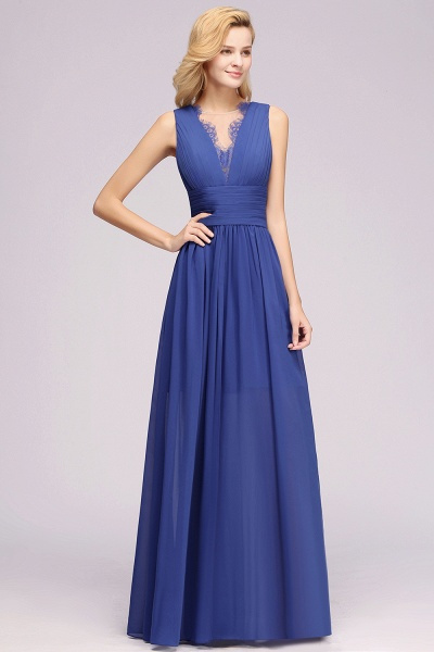 BM0835 Lace Chiffon Jewel Sleeveless Ruffles Short Bridesmaid Dress_55