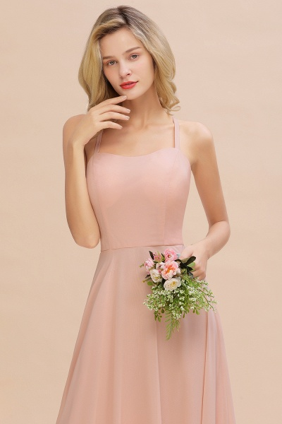 BM0782 Modern Chiffon Straps Sleeveless Open Back Long Bridesmaid Dress_9