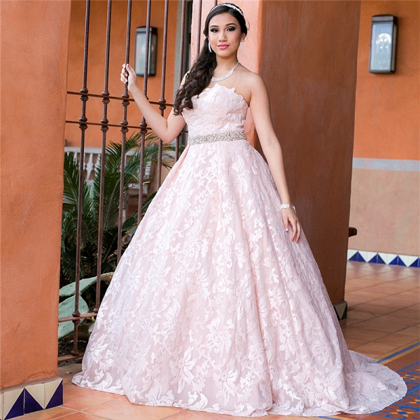 Glorious Sweetheart Lace A-line Prom Dress_1