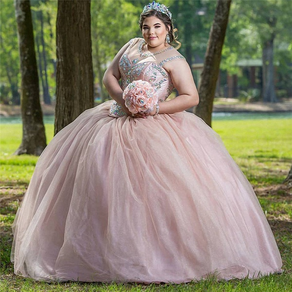 Wonderful Jewel Beadings Ball Gown Quinceanera Dress_1