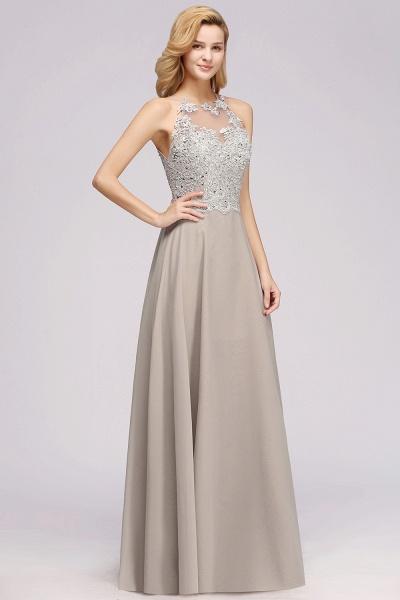 BM0794 Exquisite Lace Sleeveless Side Slit Bridesmaid Dress_5