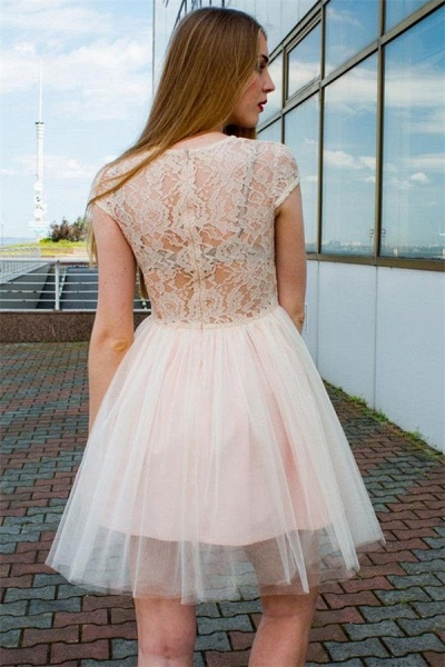 Illusion Lace Tulle Jewel Sleeveless Homecoming Dress_2