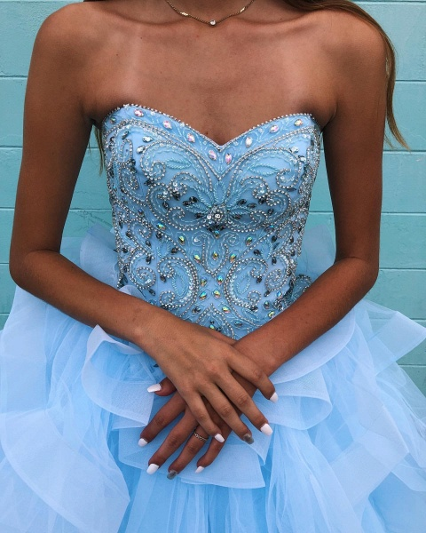 Awesome Sweetheart Tulle Ball Gown Quinceanera Dress_4