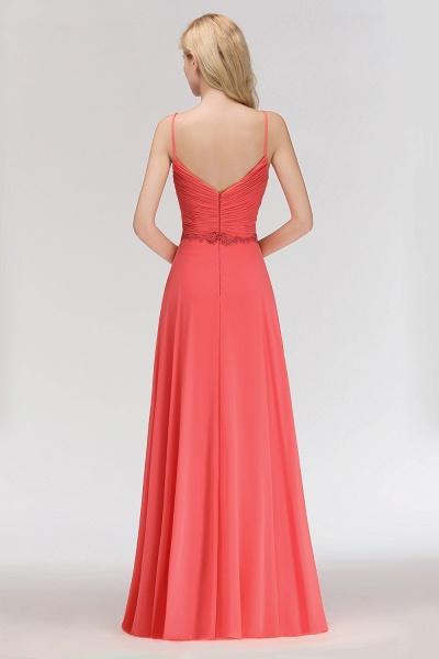 BM0084 Elegant Spaghetti Straps Ruffles Appliques Bridesmaid Dress_2