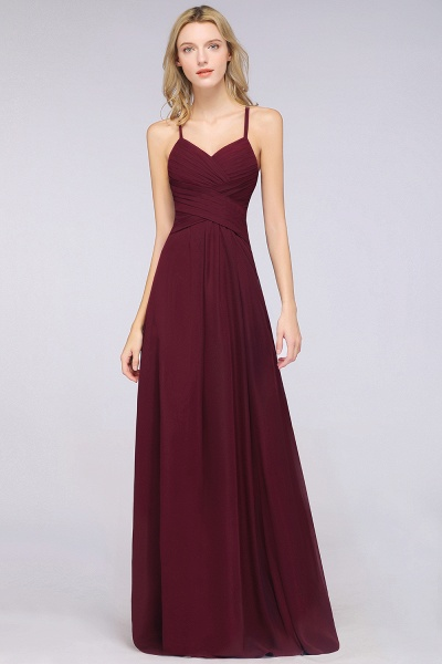 A-Line Chiffon Halter V-Neck Sleeveless Floor-Length Bridesmaid Dress with Ruffles_39
