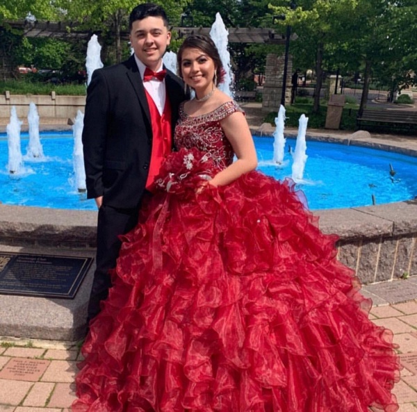 Affordable Scoop Organza Ball Gown Quinceanera Dress_2
