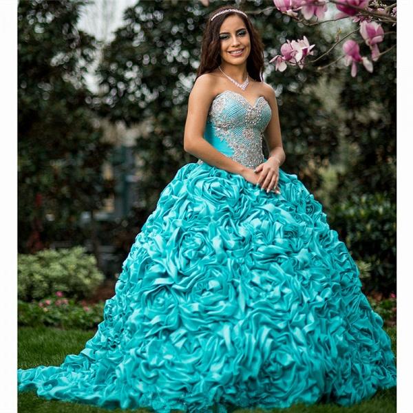 Fabulous Sweetheart Taffeta Ball Gown Quinceanera Dress_1