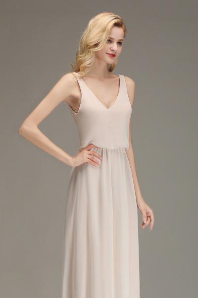 BM0033 Elegant Straps Sexy V-Neck Long Bridesmaid Dress_7