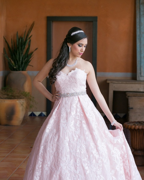 Glorious Sweetheart Lace A-line Prom Dress_3