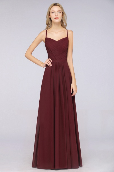 A-Line Chiffon Spaghetti-Straps Sweetheart Sleeveless Floor-Length Bridesmaid Dress with Ruffles_38