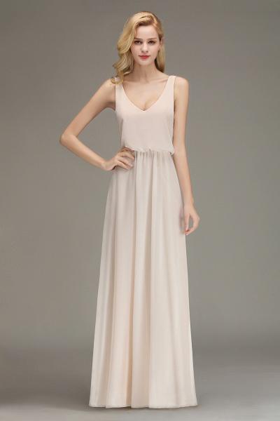 BM0033 Elegant Straps Sexy V-Neck Long Bridesmaid Dress_5