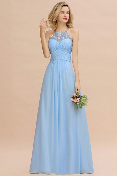 BM0776 Elegant Appliques Jewel Sleeveless Bridesmaid Dress Online_5