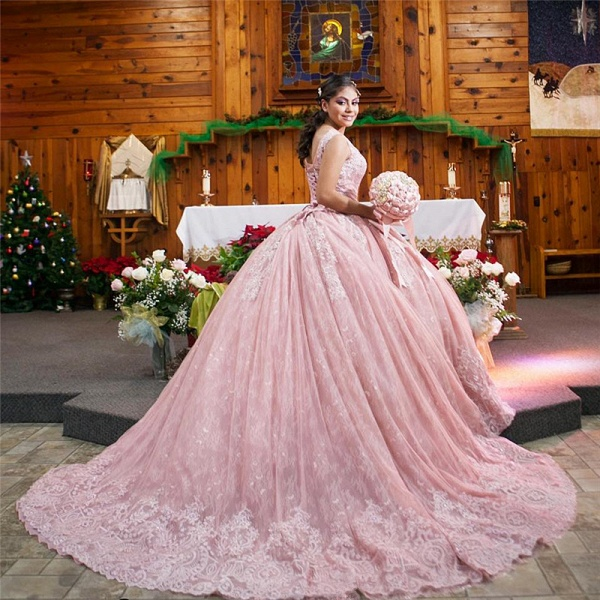 Fabulous Jewel Tulle Ball Gown Quinceanera Dress_2