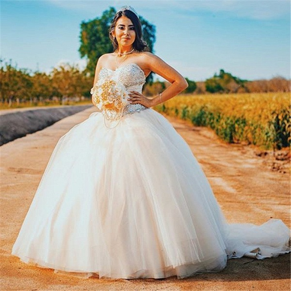 Wonderful Sweetheart Tulle Ball Gown Quinceanera Dress_1