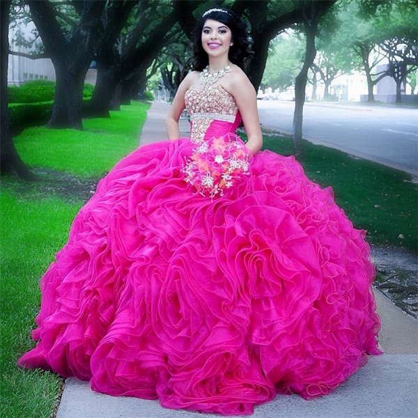 Chic Halter Tulle Ball Gown Quinceanera Dress_1