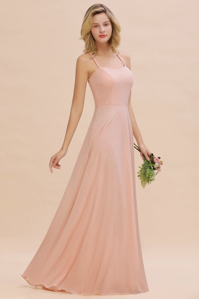 BM0782 Modern Chiffon Straps Sleeveless Open Back Long Bridesmaid Dress_4