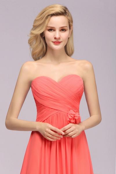 BM0792 Simple Sweetheart Strapless Flower A-line Bridesmaid Dress_8