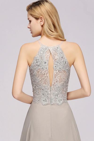 BM0794 Exquisite Lace Sleeveless Side Slit Bridesmaid Dress_6