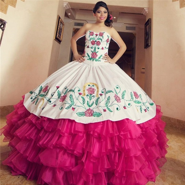 Excellent Sweetheart Organza Ball Gown Quinceanera Dress_1