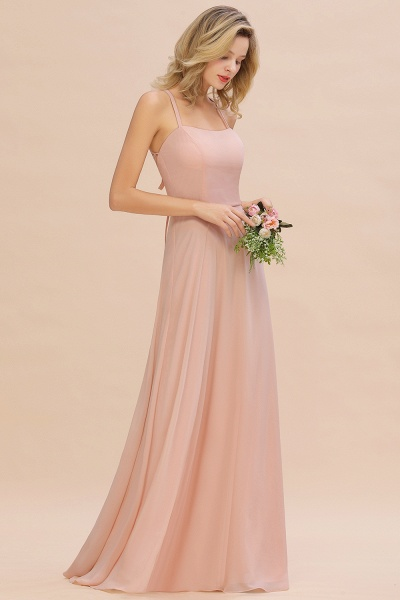 BM0782 Modern Chiffon Straps Sleeveless Open Back Long Bridesmaid Dress_5