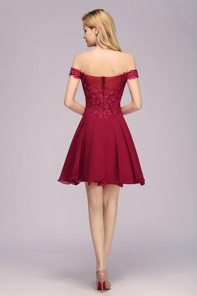 BM0793 Elegant Lace Off-the-Shoulder Short Bridesmaid Dress_2