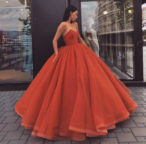 Best Sweetheart Tulle Ball Gown Prom Dress_3
