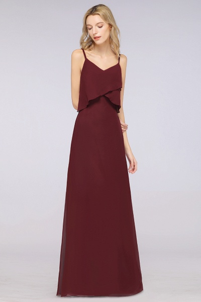 A-Line Chiffon Spaghetti-Straps V-Neck Sleeveless Floor-Length Bridesmaid Dress_37