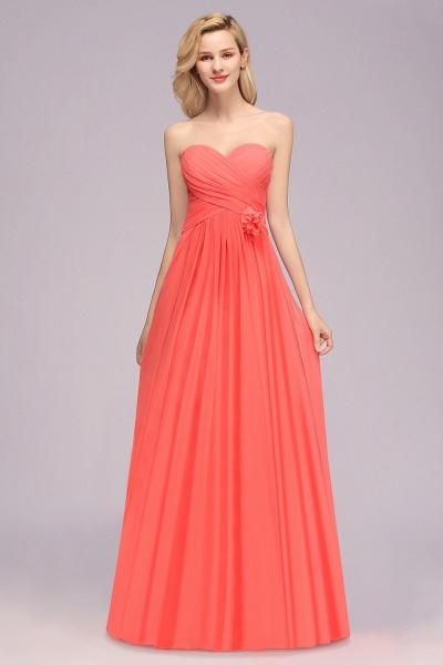 BM0792 Simple Sweetheart Strapless Flower A-line Bridesmaid Dress_3