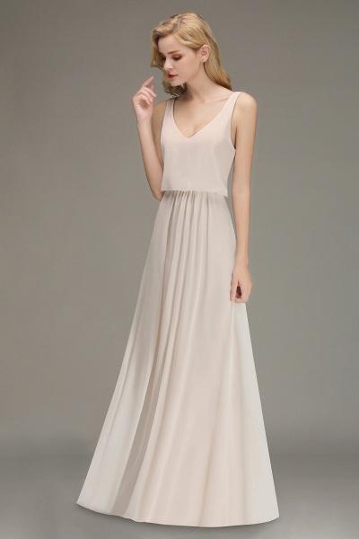 BM0033 Elegant Straps Sexy V-Neck Long Bridesmaid Dress_3