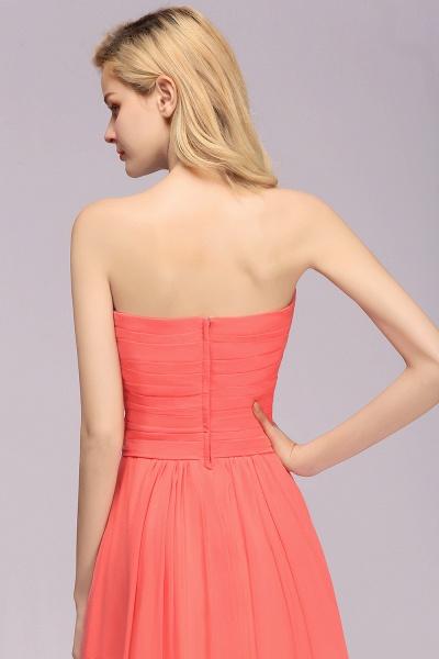 BM0792 Simple Sweetheart Strapless Flower A-line Bridesmaid Dress_7