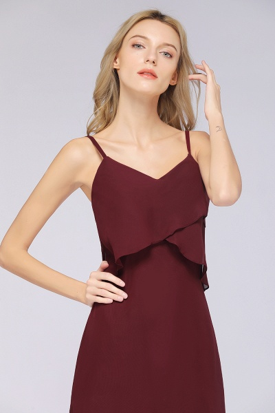 A-Line Chiffon Spaghetti-Straps V-Neck Sleeveless Floor-Length Bridesmaid Dress_39