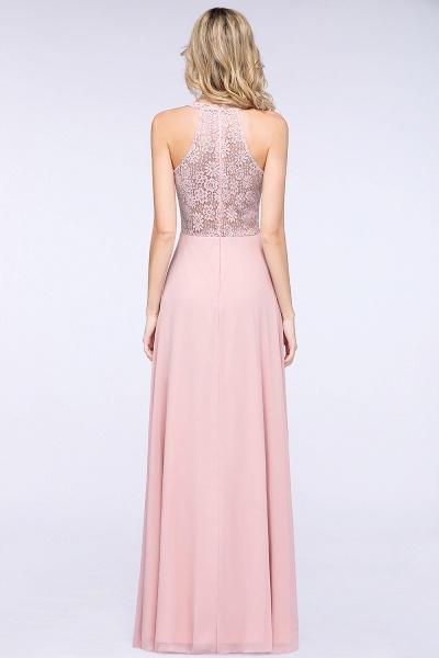 BM0795 Trendy Illusion Lace Sleeveless Bridesmaid Dress_8